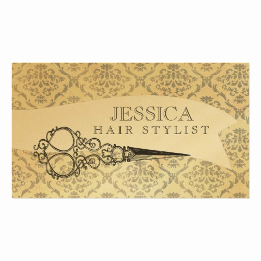Hair Stylist Business Cards Lovely Vintage Unique Professional Gold Hair Stylist Business