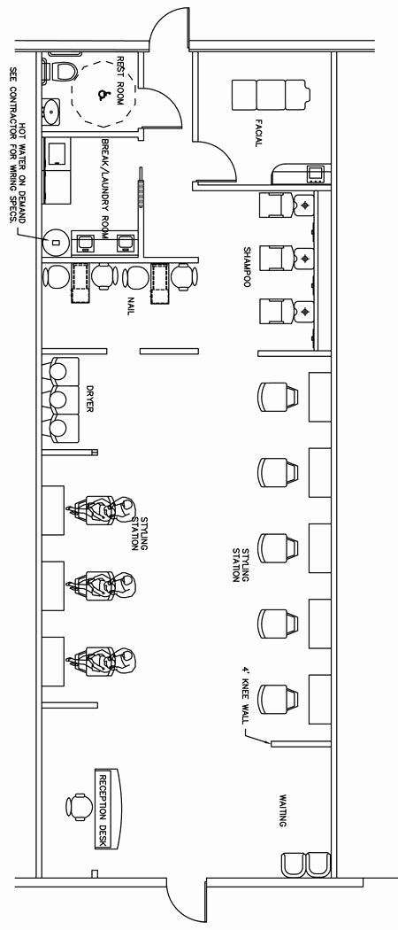 Hairdressing Salon Business Plan Elegant Beauty Salon Floor Plan Design Layout 1400 Square Foot
