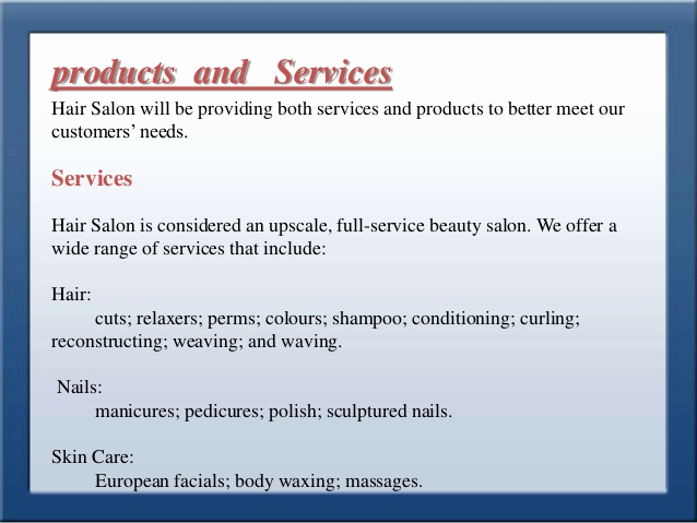 Hairdressing Salon Business Plan Luxury Business Plan for Style Park Hair Saloon