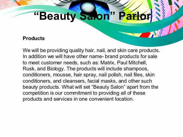 "Hairdressing Salon Business Plan New Business Plan Presentation "" Beauty Salon Parlor"