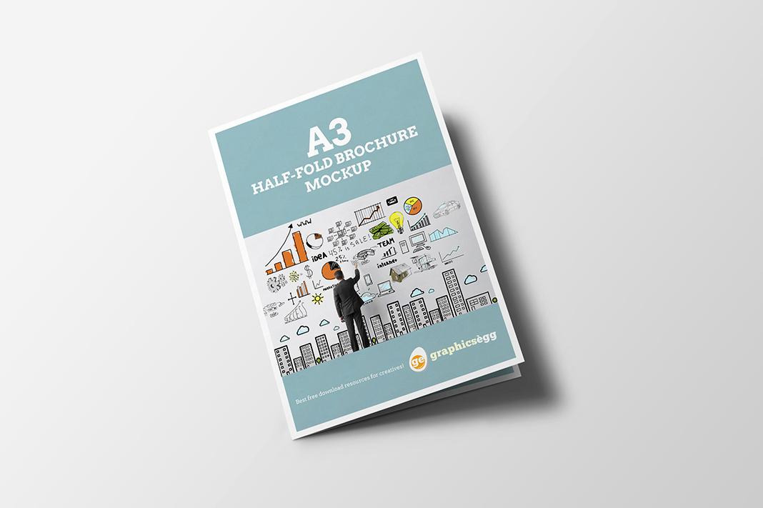Half Fold Brochure Template Best Of A3 Half Fold Brochure Mockup