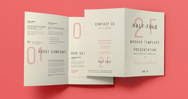 Half Fold Brochure Template Best Of Psd Bi Fold Mockup Template Vol5