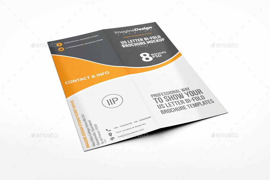Half Fold Brochure Template Elegant Us Letter Half Fold Brochure Mockup by Bagera