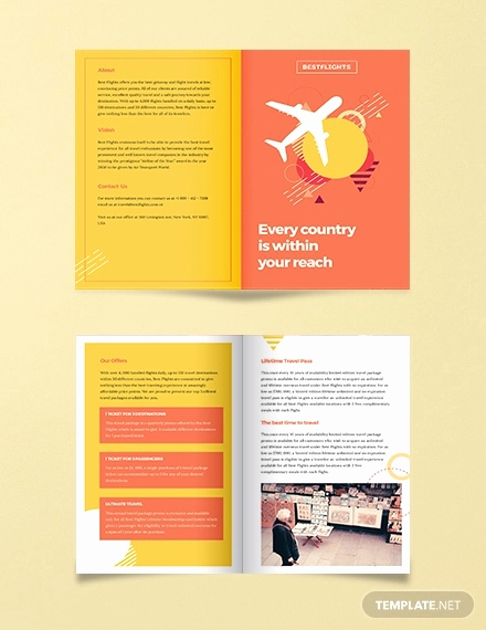 Half Fold Brochure Template Inspirational 37 Half Fold Brochure Templates