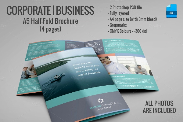 Half Fold Brochure Template Lovely 22 Mercial Brochure Psd Vector Eps Jpg Download
