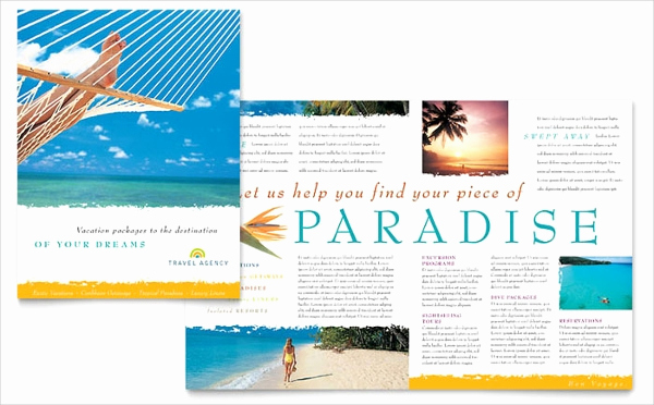 Half Fold Brochure Template Lovely Travel Brochures – 18 Psd Ai Vector Eps format Download