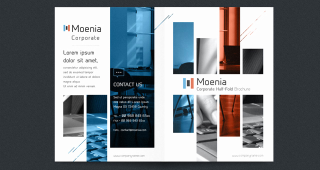 Half Fold Brochure Template Unique Moenia Bi Fold Brochure Template