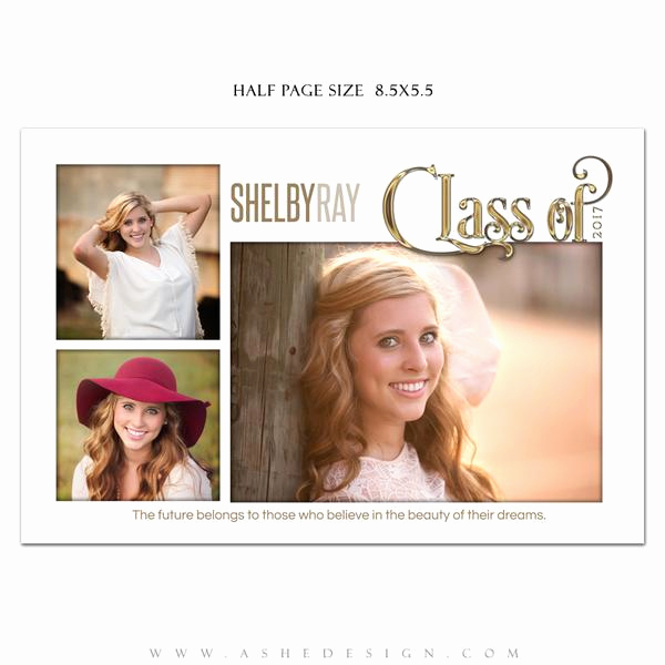 Half Page Flyer Template Awesome ashe Design Senior Yearbook Ad
