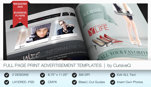 Half Page Flyer Template Beautiful Print Ad Templates V3 Full & Half Page Designs by Cursiveq