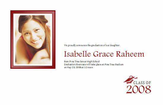 Half Page Flyer Template Lovely Download Graduation Announcement with Photo Half Page