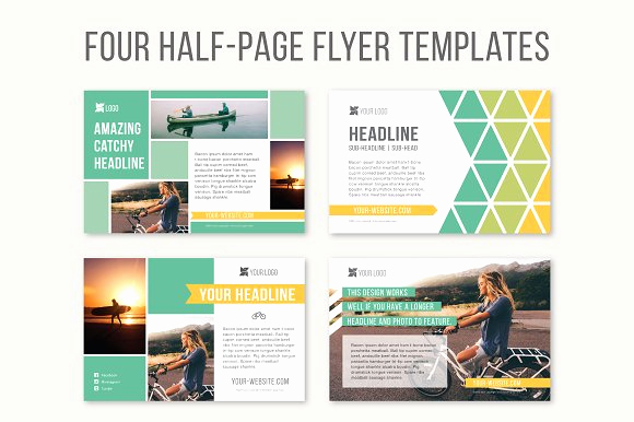Half Page Flyer Template New Four Half Page Flyer Templates Templates On Creative Market