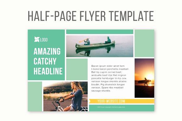 Half Page Flyer Template Unique Half Page Flyer Template Templates Creative Market