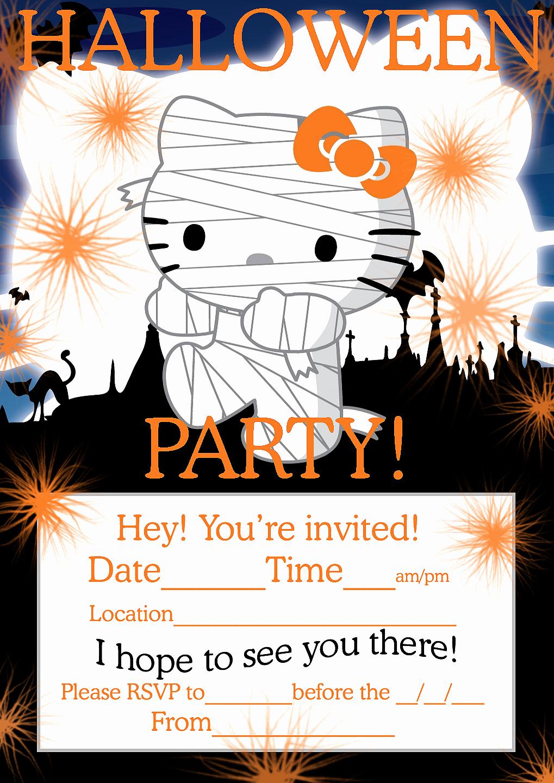 Halloween Birthday Party Invitations Best Of Hello Kitty Loft Cute Hello Kitty Freebies for Halloween