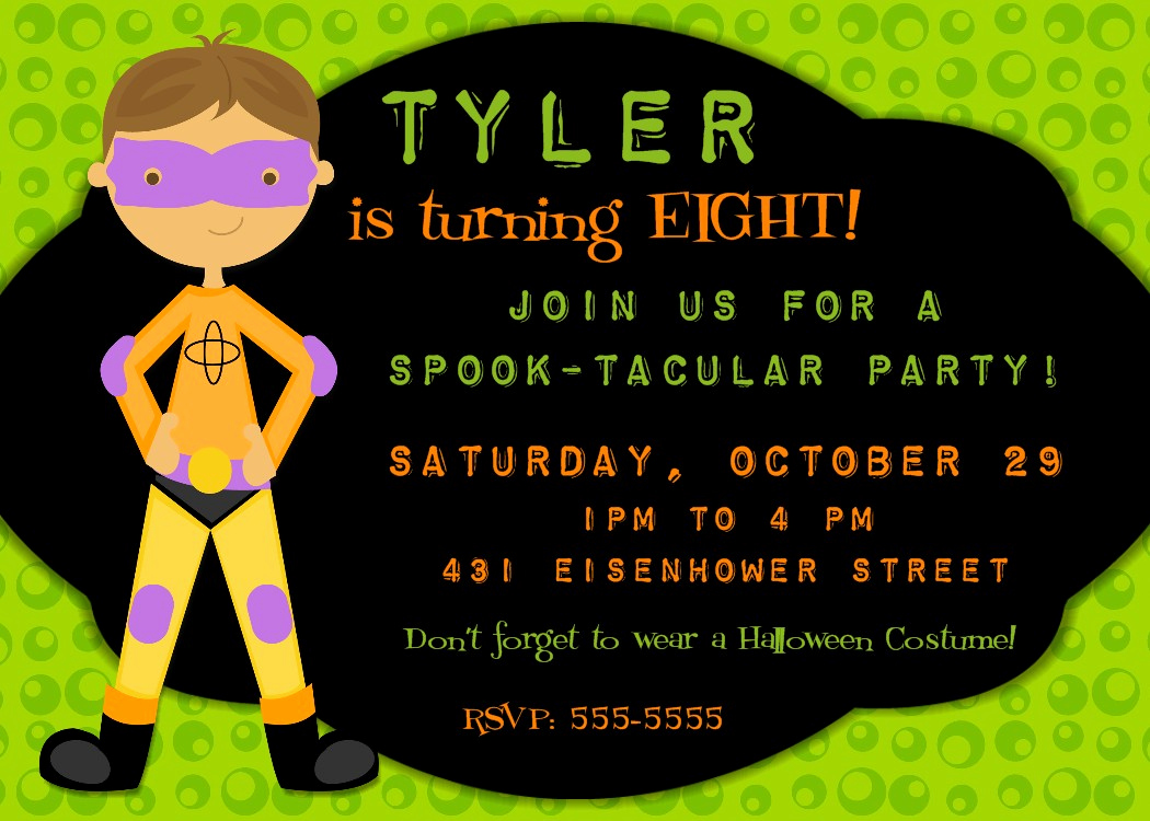 Halloween Birthday Party Invitations Elegant Bear River Greetings Halloween Party Invitations