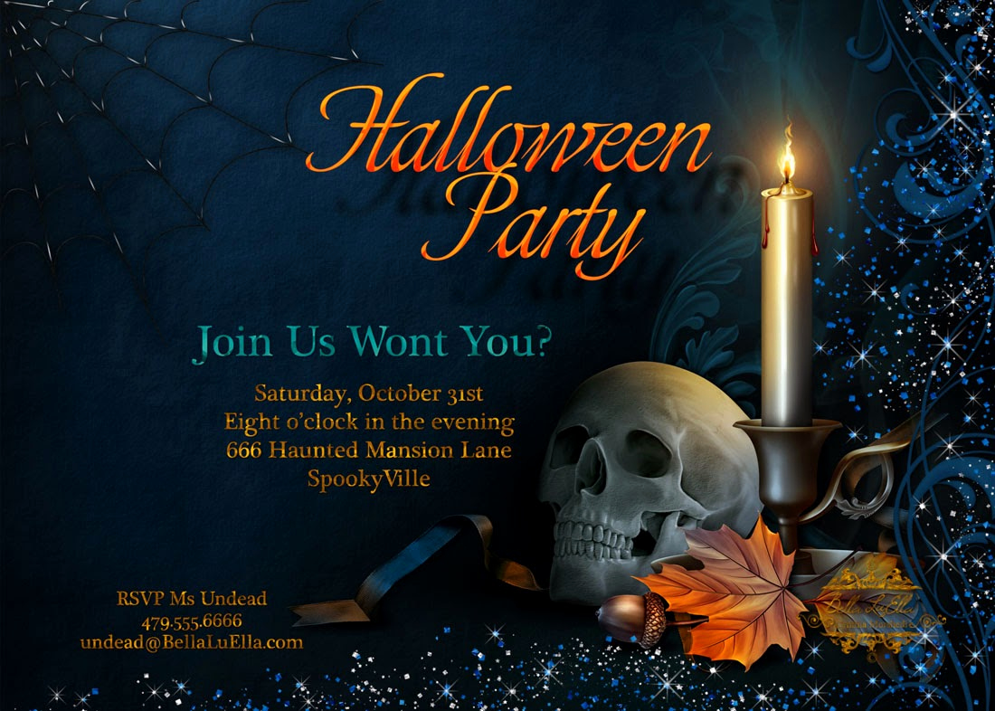 Halloween Birthday Party Invitations Elegant Bella Luella Halloween Party Invitations