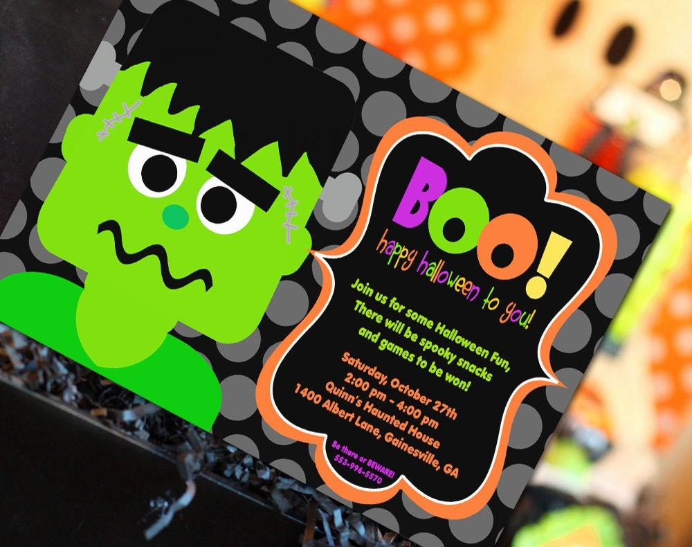 Halloween Birthday Party Invitations Fresh Halloween Invitation Halloween Party Invitation