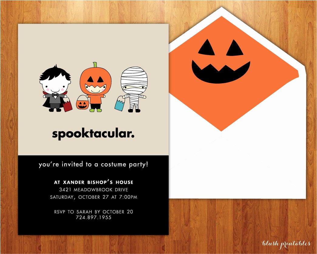Halloween Birthday Party Invitations Fresh Spooktacular Kids Halloween Party Invitation by