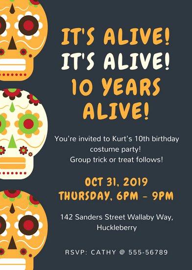 Halloween Birthday Party Invitations Inspirational Customize 3 999 Halloween Party Invitation Templates