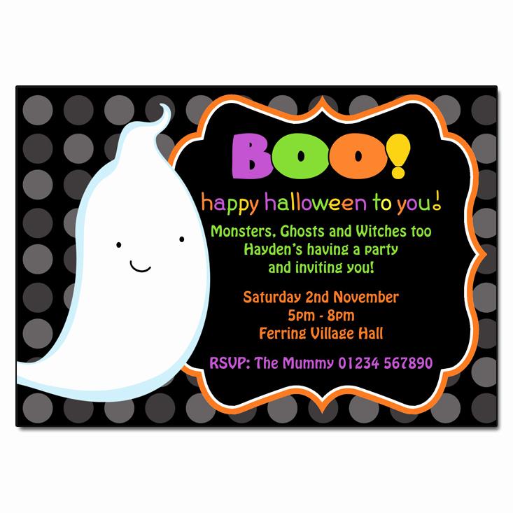 Halloween Birthday Party Invitations Lovely Boo Halloween Invitations