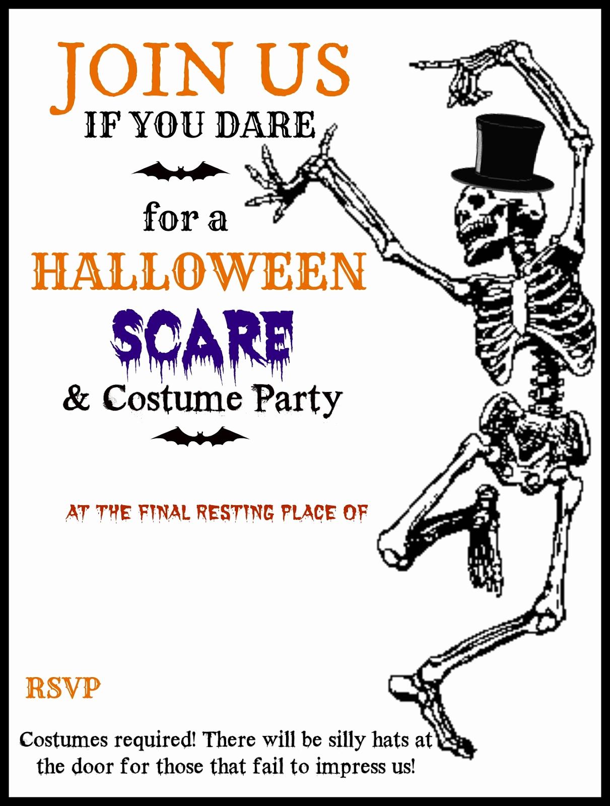Halloween Birthday Party Invitations Lovely Crafty In Crosby Halloween Party Invitations with Template