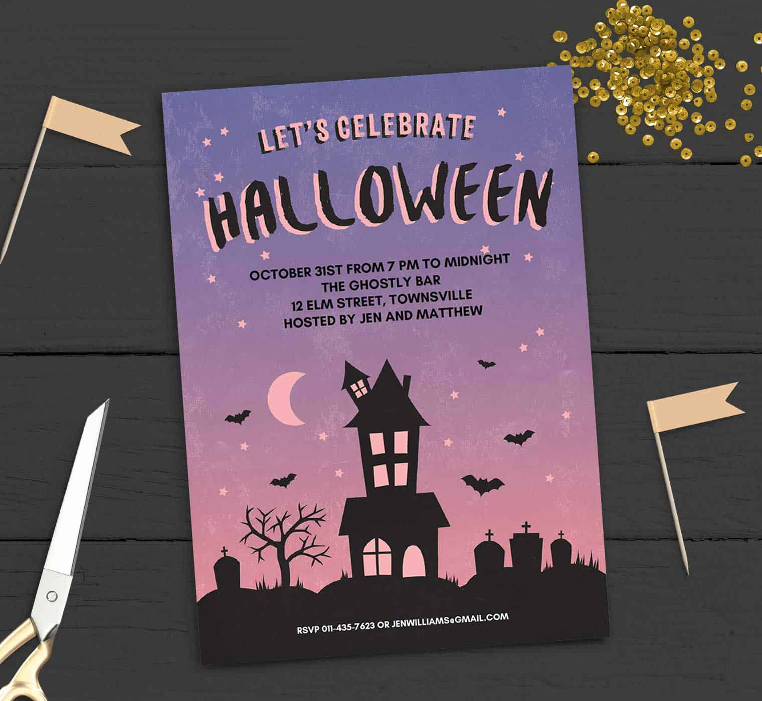 Halloween Party Invitation Template Awesome Free Printable Halloween Party Invitation Haunted House
