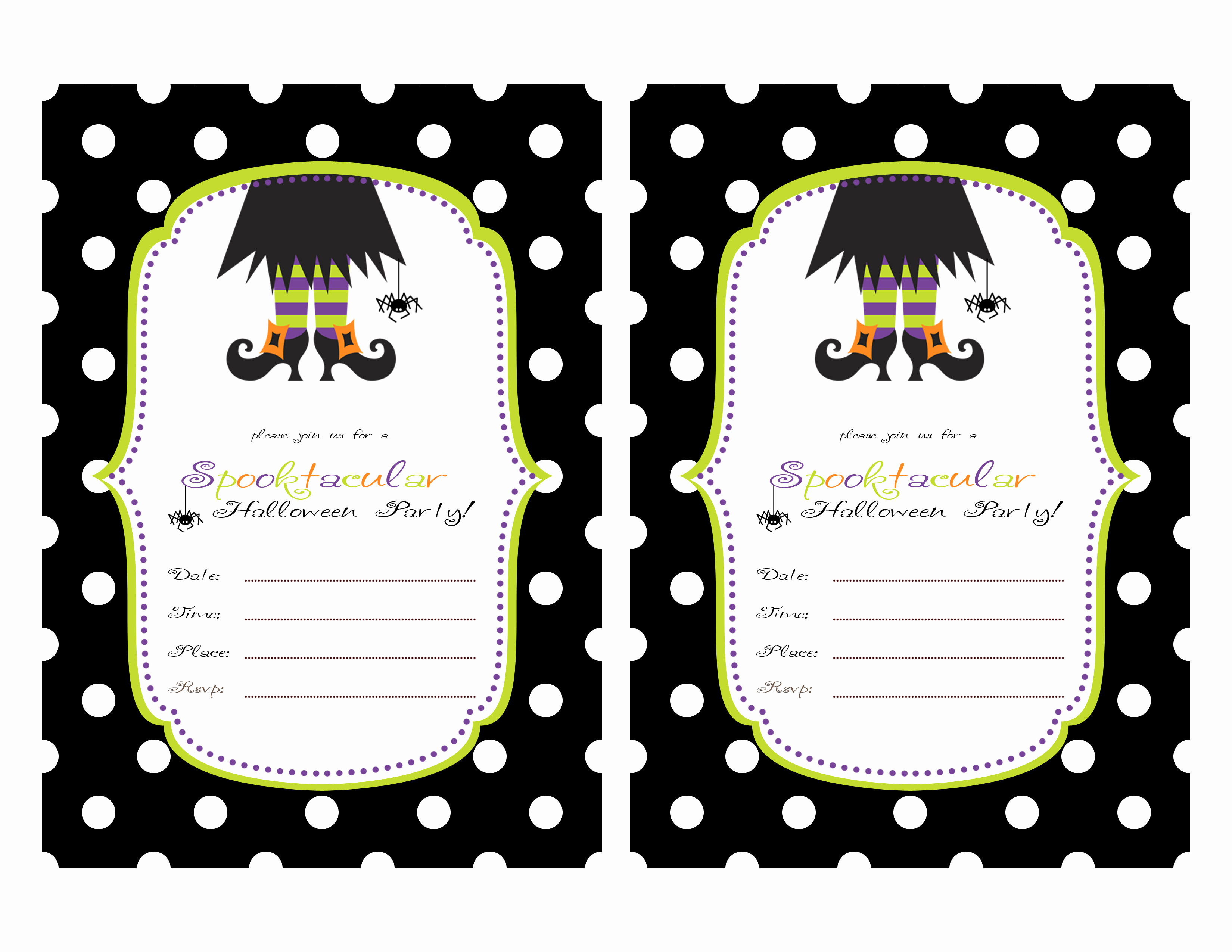 Halloween Party Invitation Template Awesome Restlessrisa Halloween Party Invitations