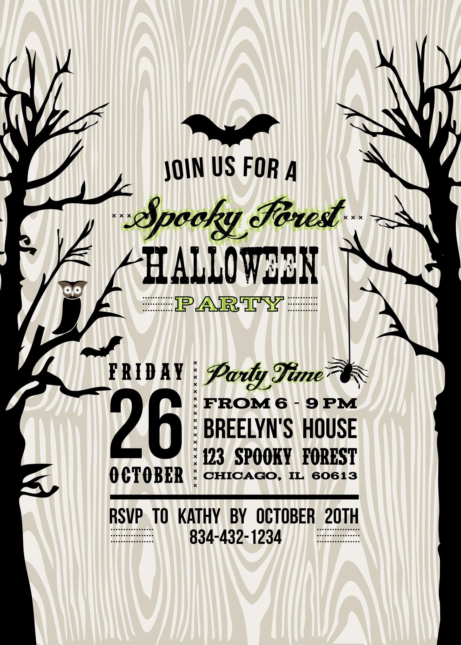 Halloween Party Invitation Template Fresh Halloween Invitation Wording byob – Festival Collections
