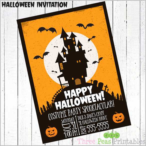 Halloween Party Invitation Template Lovely 35 Halloween Invitation Templates Free Psd Invitations