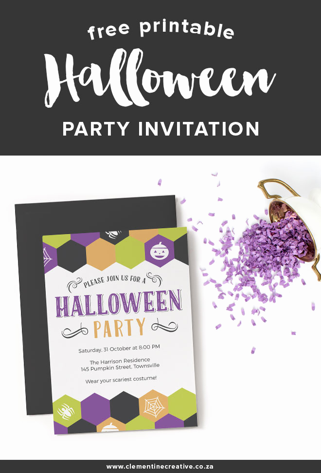 Halloween Party Invitation Template Lovely Free Printable Halloween Party Invitation