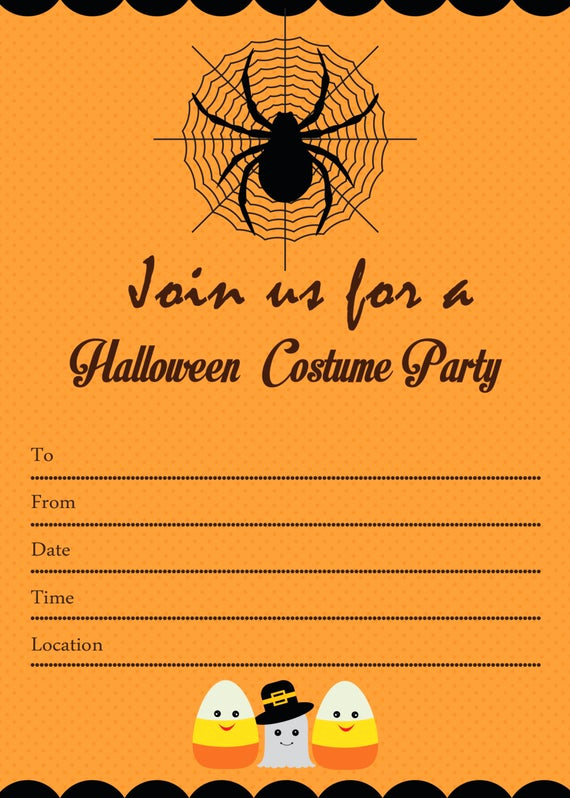 Halloween Party Invitation Template Lovely Items Similar to Spooky Halloween Costume Party Invitation