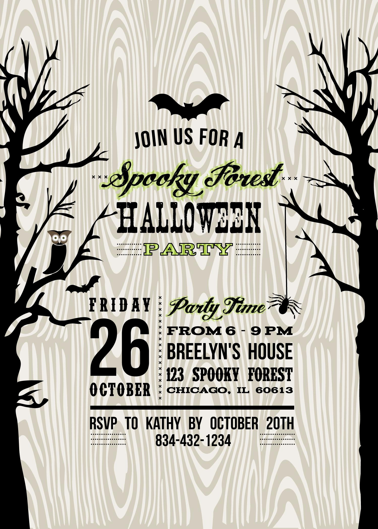 Halloween Party Invitation Templates Beautiful Halloween Invitation Wording byob – Festival Collections