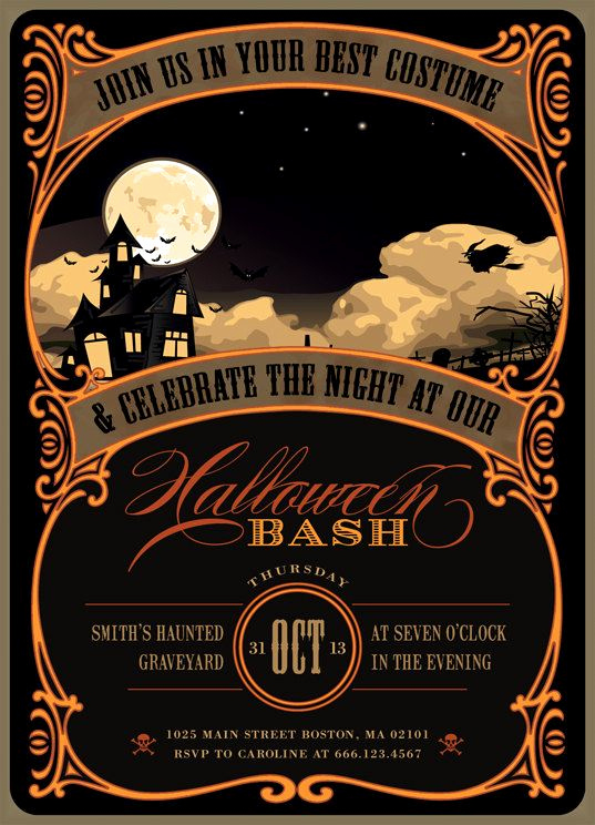Halloween Party Invitation Templates Elegant Best 25 Halloween Party Invitations Ideas On Pinterest