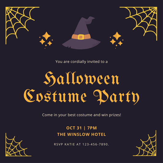 Halloween Party Invitation Templates Elegant Halloween Party Invitation Templates Canva
