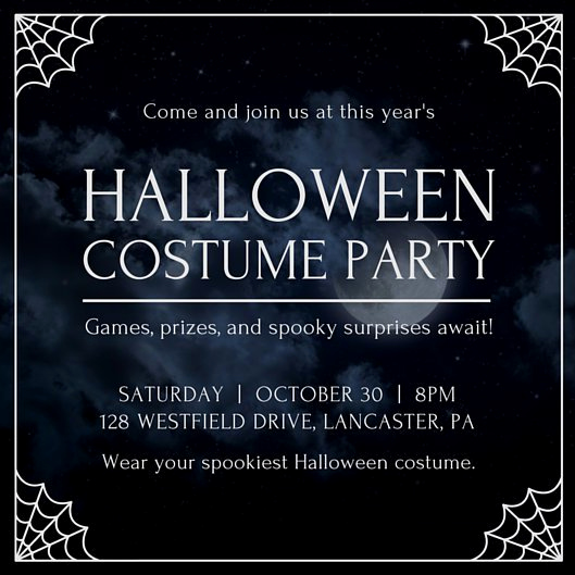 Halloween Party Invitation Templates Fresh Adult Halloween Party Invitation Templates by Canva