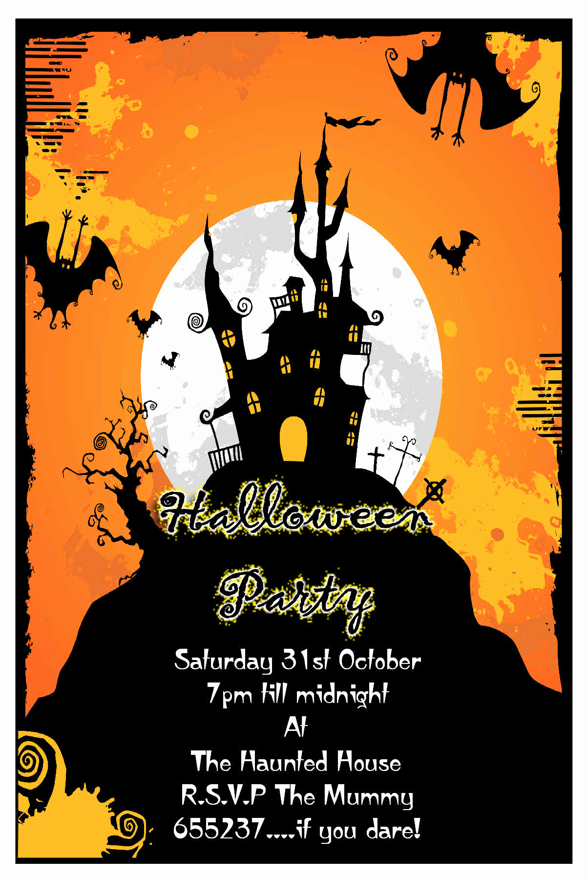 Halloween Party Invitation Templates Fresh Halloween Party Invitation Cards – Festival Collections