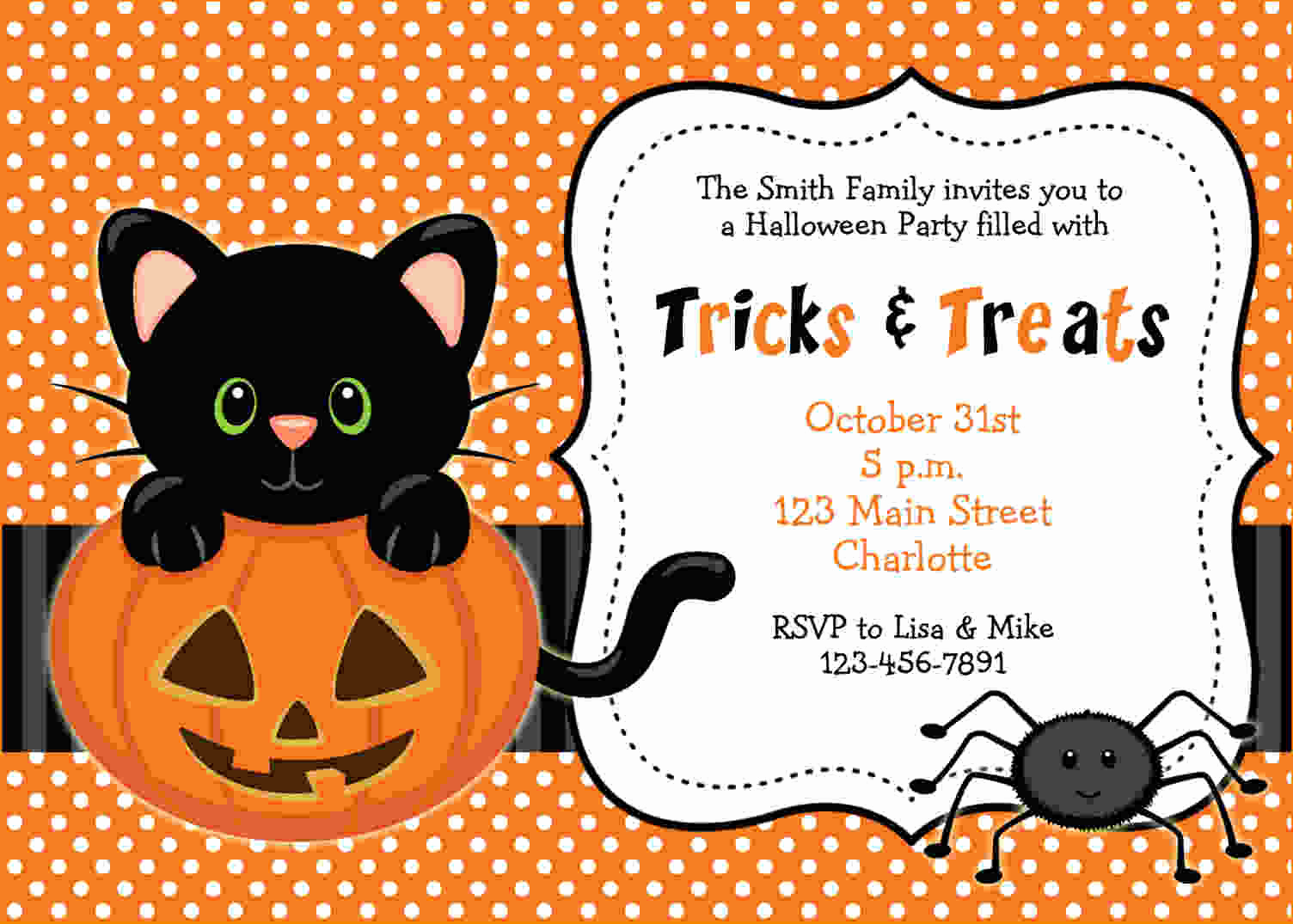 Halloween Party Invitation Templates Lovely Free Printable Halloween Invitations Templates