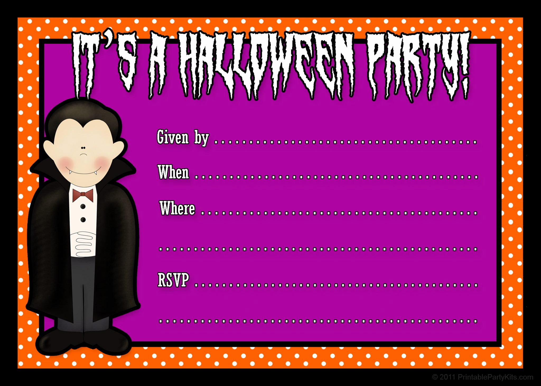 Halloween Party Invitation Templates Lovely Free Printable Halloween Party Invites