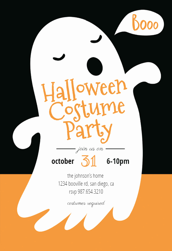 Halloween Party Invitation Templates Unique Boos Halloween Party Invitation Template Free