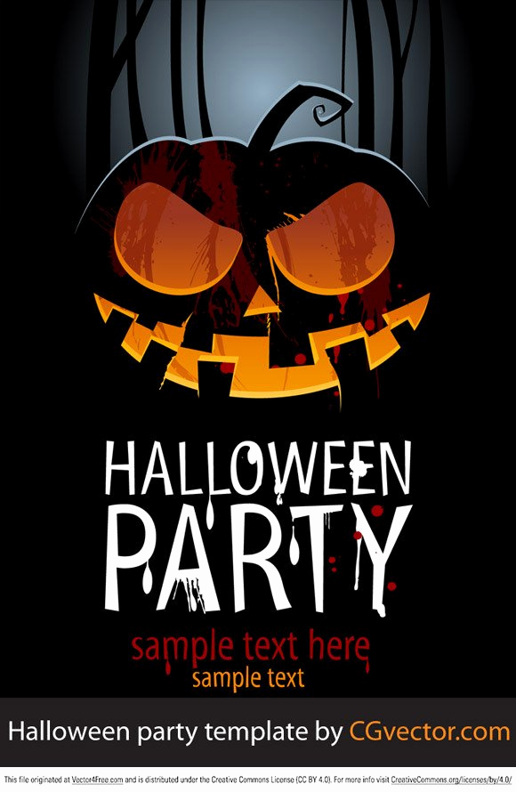 Halloween Party Invitations Templates Awesome Free Halloween Party Template Psd Files Vectors