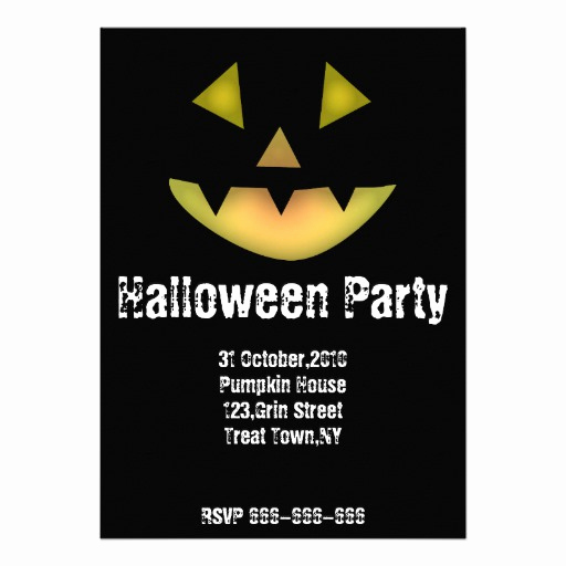Halloween Party Invitations Templates Awesome Halloween Party Invitation Template