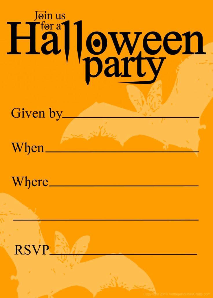 Halloween Party Invitations Templates Elegant Free Printable Halloween Birthday Invitations Templates