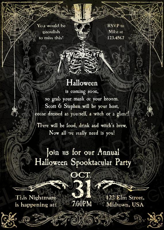 Halloween Party Invitations Templates Fresh Halloween Invitation Wording Adults Ly – Festival