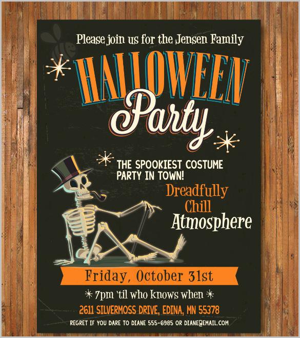 Halloween Party Invitations Templates Inspirational 35 Halloween Invitation Free Psd Vector Eps Ai