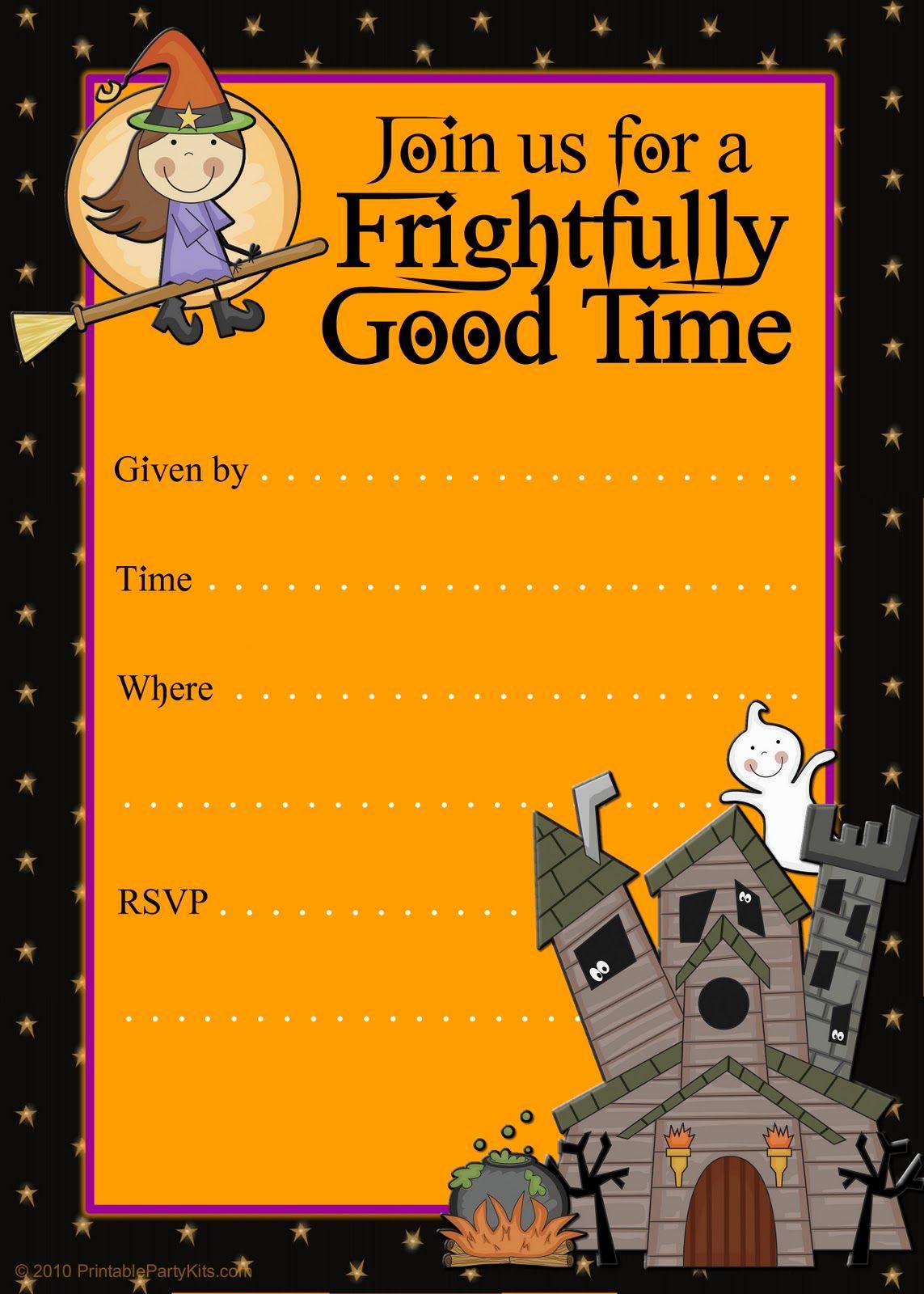 Halloween Party Invitations Templates Inspirational Free Halloween Flyer Invitations Printable