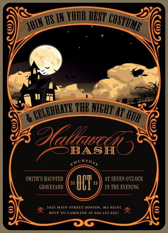 halloween party invitations