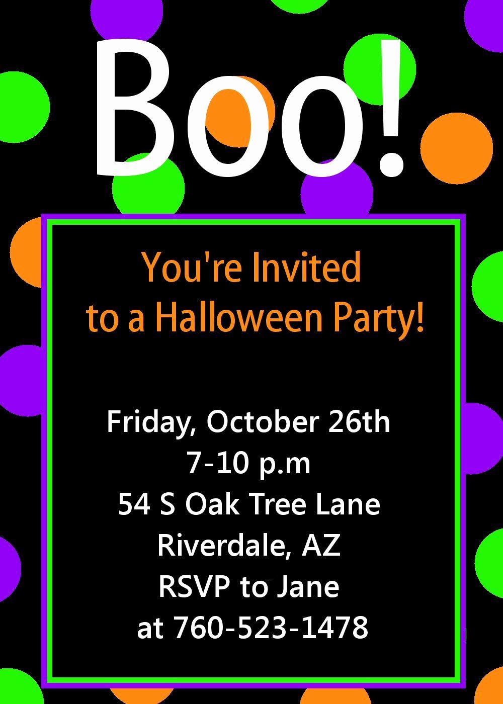 Halloween Party Invitations Templates New Halloween Party Invitation Printable