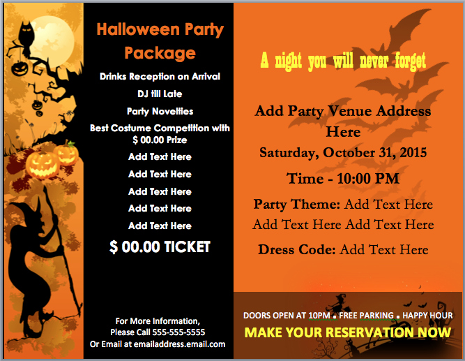 Halloween Party Invitations Templates New Halloween Party Invitation Template – Microsoft Word Templates