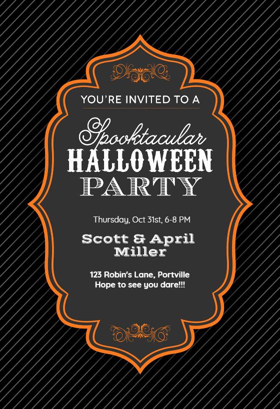 Halloween Party Invitations Templates Unique Spooktacular Halloween Party Free Halloween Party