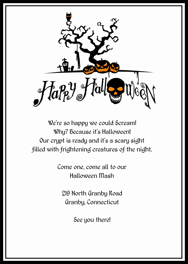 Halloween Party Invite Template Awesome 6 Best Of Free Printable Halloween Invitation Witch
