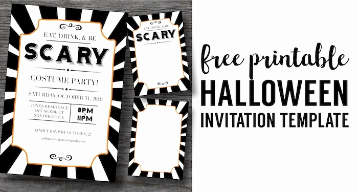 Halloween Party Invite Template Awesome Halloween Invitations Free Printable Template Paper